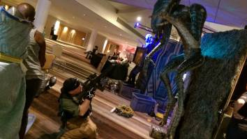 Brandon Reese as an Alien marine