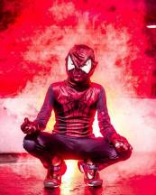 Local youngster as Spidey, photo from Lee Workman