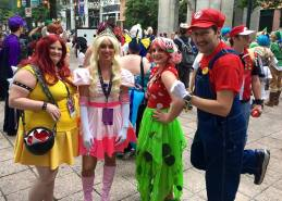 Dmitriy Plaks and friends as the Super Mario crew.