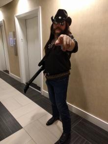 Reddit user TrystonG33K as Killmaster from Brutal Legend (a.k.a Lemmy from Motorhead) (Courtesy Reddit)