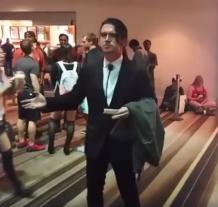 Sneaky Zebra Cosplay as Confused Travolta (Courtesy Reddit)