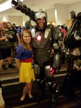 Russ and Kristy Meyerriecks as War Machine and Snow White